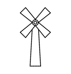 Windmill farm agriculture bakery bread icon vector