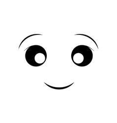 Happy face cartoon expression icon graphic vector