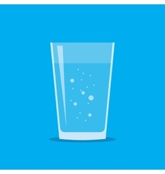 Glass of Fresh Water Flat Icon vector image