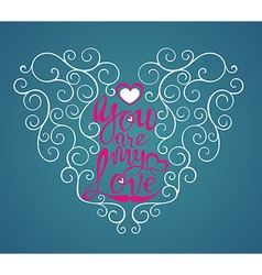 Love quote modern calligraphy vector image