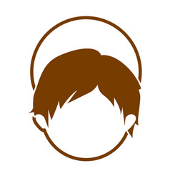 Brown silhouette of faceless head of child jesus vector