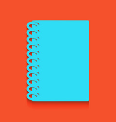 Notebook simple sign whitish icon on vector