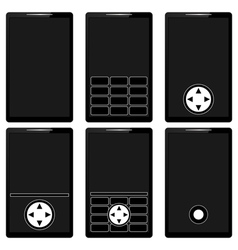 Mobile phones set vector image