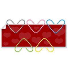 clipped hearts vector image