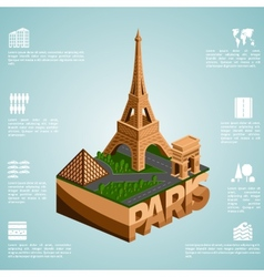 Isometry city paris vector