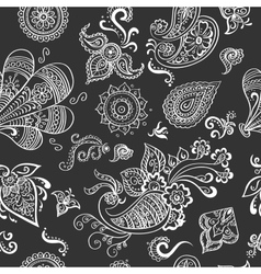 Indian vintage floral seamless vector