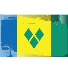 Saint vincent grenadines flag vector