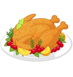Roasted turkey vector