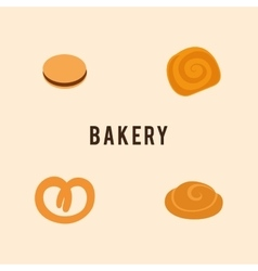 Delicous bakery food vector