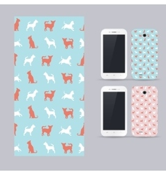 Phone case design chihuahua small dog vector