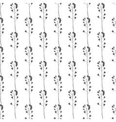 Hand drawn meadow grass seamless pattern vector