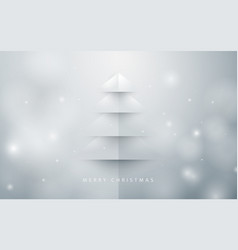 abstract christmas tree background paper art style vector image vector image