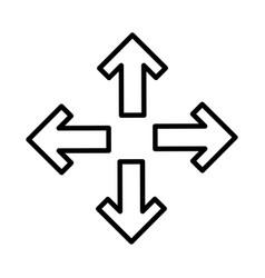 arrows alls directions icon vector image