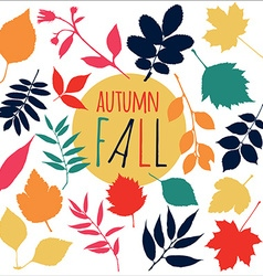 Autumn fall leaf set design nature element vector