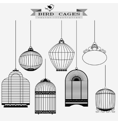 Bird cages set vector