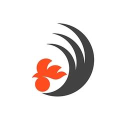 Black chicken Logo vector image vector image