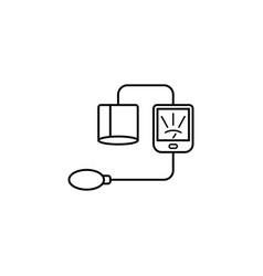 Blood sphygmomanometer line icon vector