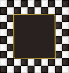checkered square picture frame vector image vector image