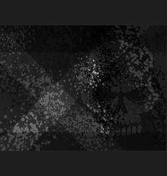 Dark death danger x cross gloomy scull shadow vector
