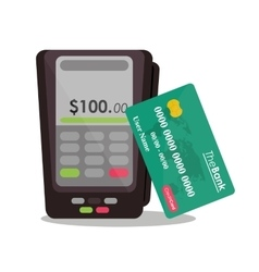 Dataphone payment and shopping design vector