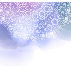 decorative madala design on a watercolour vector image