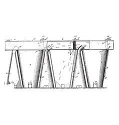 Furnace condenser vintage vector