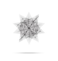 Geometric element star shape line design vector