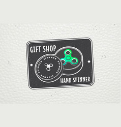 hand fidget spinner stress relief toys detailed vector image