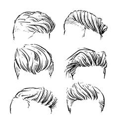 hipster man hair style beard clipart vector image vector image
