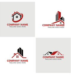 home building logos vector image