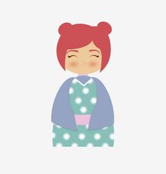 japan girls design vector image