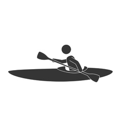 Kayak extreme sport vector