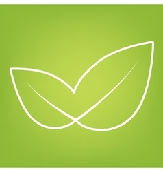 Leaf line icon vector