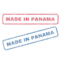 Made in panama textile stamps vector