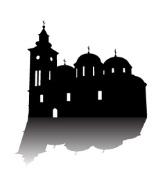 Orthodox church silhouette vector