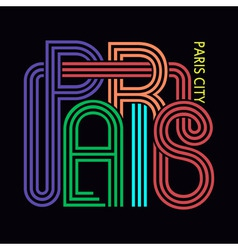 Paris City T-shirt Typography Graphics vector image vector image