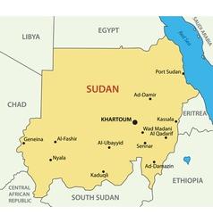 Republic of the sudan - map vector