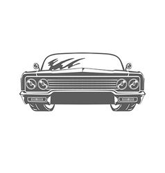 Retro car isolated on white background vector