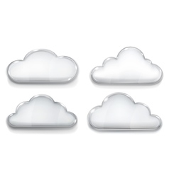 Set of opaque glass clouds vector image vector image