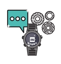 Smartwatch and communication related icons image vector