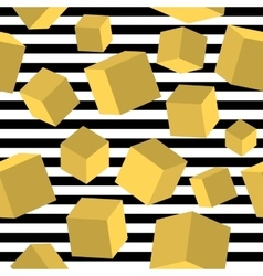 Striped geometric seamless pattern trendy memphis vector image vector image