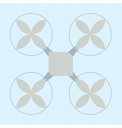The emblem of the drone in pastel colours vector image