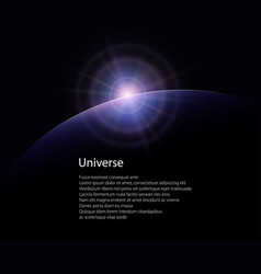 view from space poster brochure vector image
