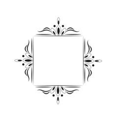 Vintage black contour frame monogram vector