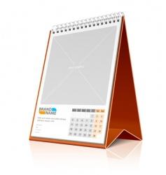 desktop calendar vector image