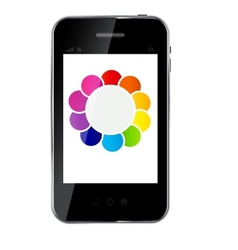 Abstract design phone for different business vector