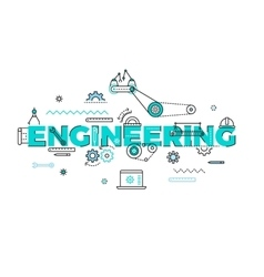 Technology engineering flat concept vector