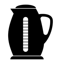 Plastic electric kettle icon simple style vector