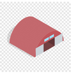 Hangar isometric icon vector