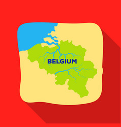A fragment of the map of belgiumthe dark belgian vector